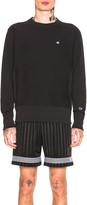 Champion Reverse Weave Crewneck Sweatshirt in Black   FWRD
