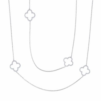 Cosanuova White Long Clover Necklace