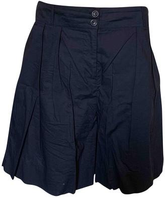 Woolrich Navy Cotton Shorts for Women