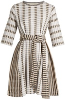 Ace&Jig Margot round-neck striped-jacquard cotton dress