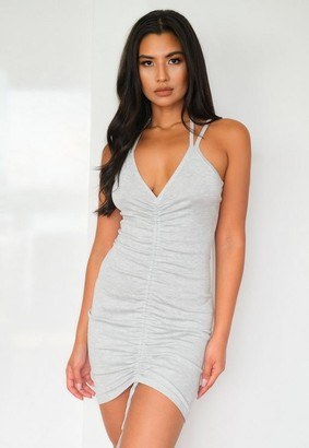 Missguided Ruched Front Knit Mini Dress
