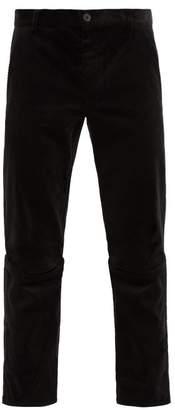 Comme des Garcons Slit-knee Cotton-corduroy Trousers - Mens - Black