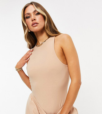 Missy Empire exclusive racer back body in sand