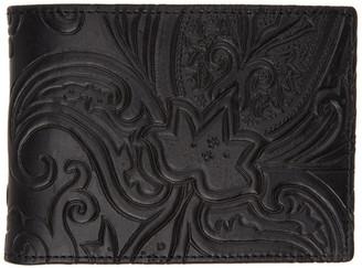 Etro Black Paisley Bifold Wallet
