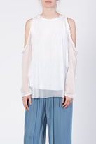 Catwalk White Cold-Shoulder Top