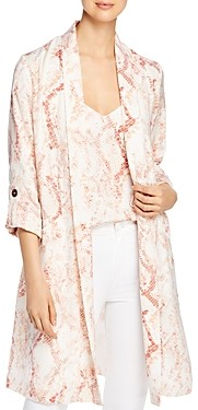 Cupcakes And Cashmere Snake Print Satin Trench Coat