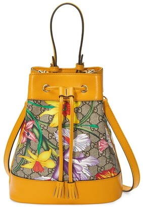 Gucci Ophidia Flora pattern backpack