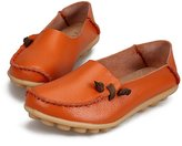 LOVEBEAUTY Women's Slipper Loafers Flat Shoes Slip-Ons Comfy Colorful Leather US 6(EU 37)
