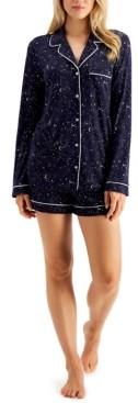 Alfani Ultra-Soft Shirt & Shorts Pajama Set, Created for Macy's