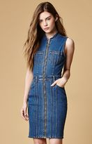 MinkPink Lone Ranger Zip Front Denim Dress