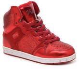 Girls Glam Pie Glitter Toddler & Youth High-Top Sneaker -Red