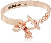 BCBGeneration Choose Happiness Rose Gold Toggle Bracelet