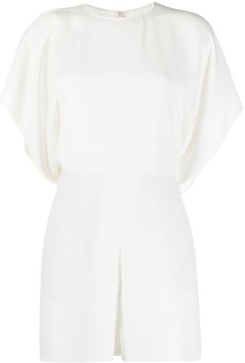 Valentino Short Draped Sleeves Playsuit