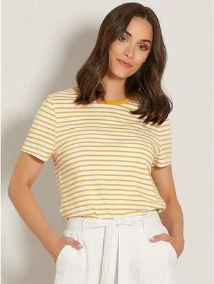 M&Co Stripe ringer t-shirt