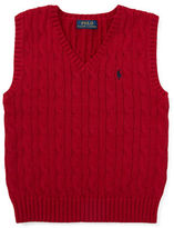 Ralph Lauren Boys 2-7 Cable Knit Sweater Vest