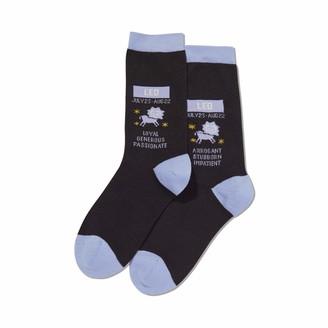 Hot Sox Womens Leo Zodiac Crew Socks Womens Shoe Size 4-10.5
