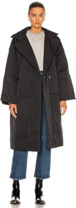 Proenza Schouler White Label Puffer Long Coat in Black | FWRD