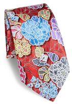 Ermenegildo Zegna Large Flower Silk Tie