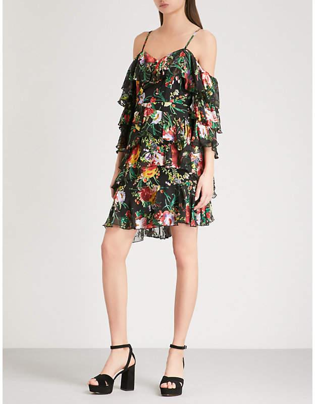 Alice + Olivia Alice & Olivia Florentina cold-shoulder floral-jacquard dress