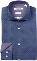 Isaac Mizrahi Denim Neat Slim Fit Dress Shirt