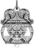 Thomas Sabo Filigree elephant sterling silver and black zirconia pendant