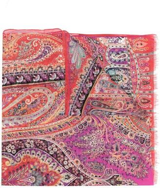 Etro Paisley Print Silk Scarf