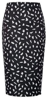 Dorothy Perkins Womens Monochrome Printed Pencil Skirt.