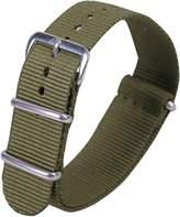 AUTULET Army Green Luxury Exquisite Men's One-Piece Nato style Nylon Perlon Watch Bands Straps Textile