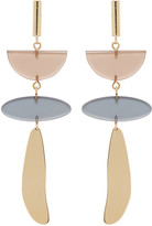 Isabel Marant Gold & Brown Clear Earrings