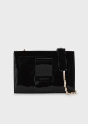 Giorgio Armani Patent Leather Shoulder Bag