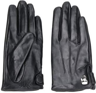 Karl Lagerfeld Paris Pin-Embellished Pebbled Gloves