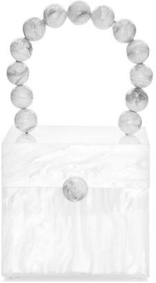 Cult Gaia Eos Beaded Acrylic Top Handle Box Bag