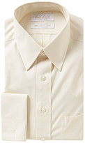 Roundtree & Yorke Gold Label Non-Iron Fitted Classic-Fit Point-Collar Dress Shirt with French Cuffs