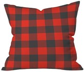 "DENY Designs Red Plaid Zoe Wodarz Winter Cabin Plaid Throw Pillow (16""x16"