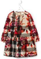 Burberry peony rose print check dress - kids - Cotton - 6 yrs