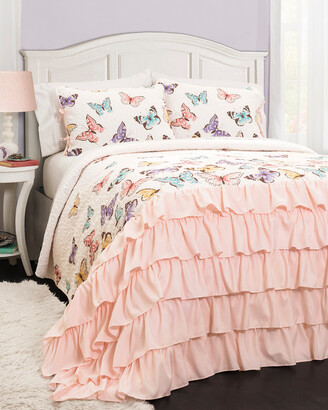 Triangle Home Fashion Flutter Butterfly Quilt Set