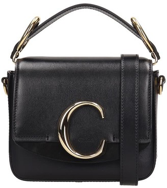 Chloé Black Leather Mini C Bag