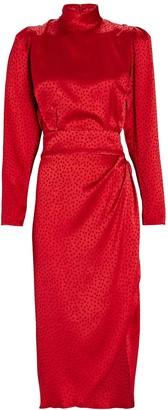Ronny Kobo Kaira Jacquard Satin Dress