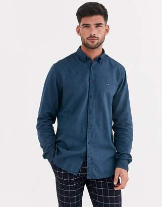 Tommy Hilfiger two tone flannel long sleeve shirt-Blue