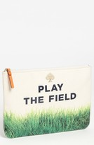 Kate Spade 'call to action - gia' canvas pouch Midnight/ Cream One Size