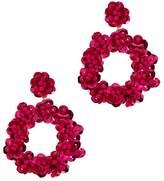 BaubleBar Floretta Sequined Drop Earrings