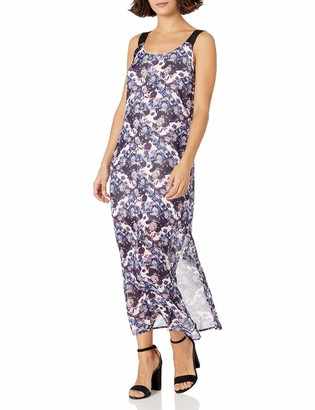 NY Collection Women's PRT Tank Maxi Dress with Scoop Neck
