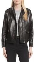 Frame Women's Lambskin Leather Moto Jacket