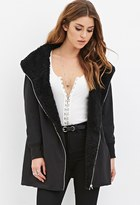 Forever 21 Faux Fur-Lined Coat