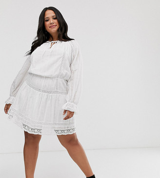 ASOS DESIGN Curve lace insert mini skater dress