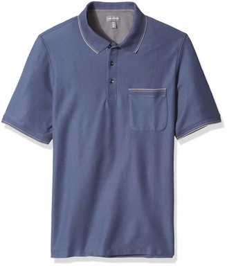 Van Heusen Men's Big and Tall Never Tuck Tipped Short Sleeve Polo