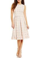Eliza J Illusion Grid Two-Piece Midi Dress
