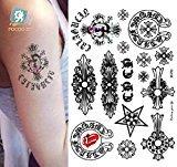 Body Art Temporary Removable Tattoo Stickers G Dragon - SC-727 Sticker Tattoo - FashionDancing