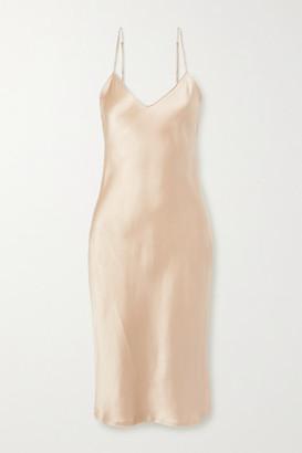 Nili Lotan Silk-charmeuse Dress - Beige