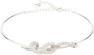 Latelita Cleopatra Serpent Snake Bangle Bracelet Silver
